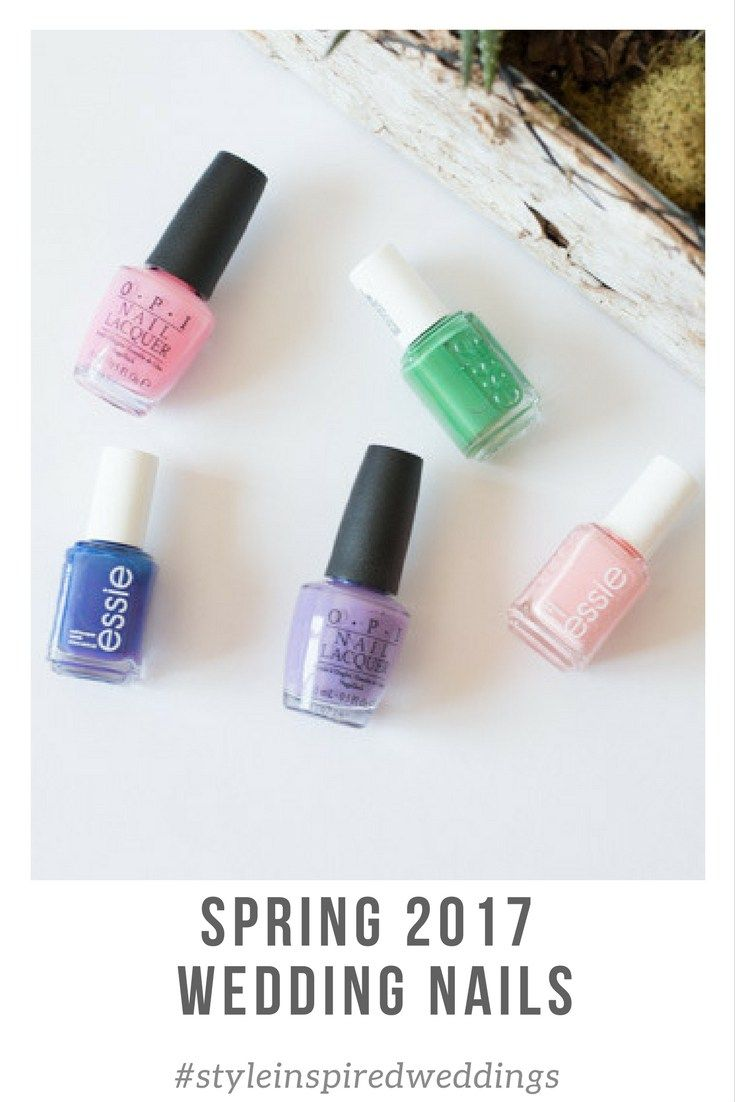 Looking for the perfect spring wedding day nail color? Well we have got five super pretty colors for spring.