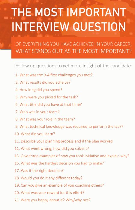 The most important interview question - Need help with your recruiting processes? Head to www.talent-gallery.no/en for more information