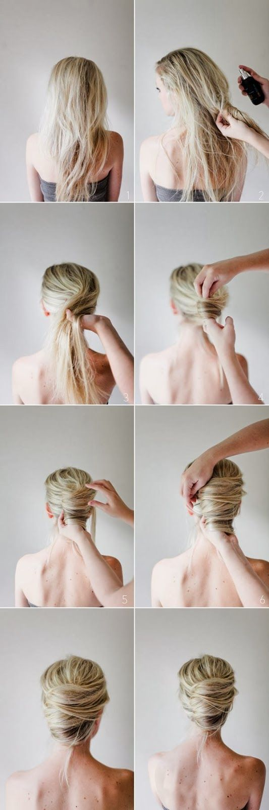 Messy French Twist Tutorial This seems difficult