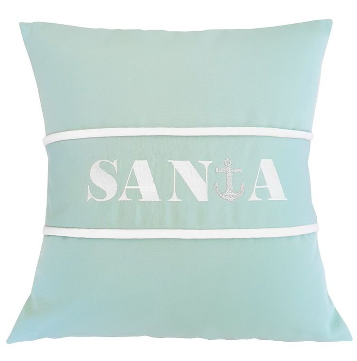 Santa Indoor/Outdoor Sunbrella Pillow