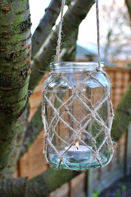 Mason Jar Twine Lantern by Quinton Wench