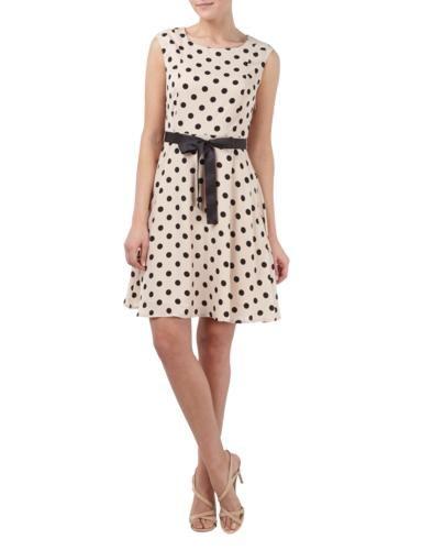 MONTEGO Kleid mit Polka Dots und Taillenband in Rosé online entdecken (9511594) | P&C Online