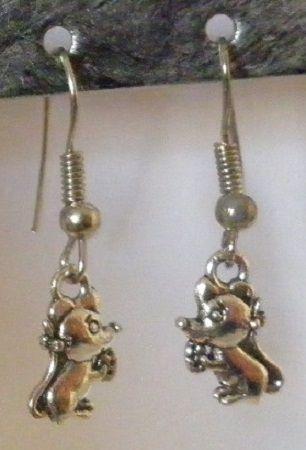 Boucles d'oreilles souris fantaisie femme enfant  de Musacréation  sur DaWanda.com