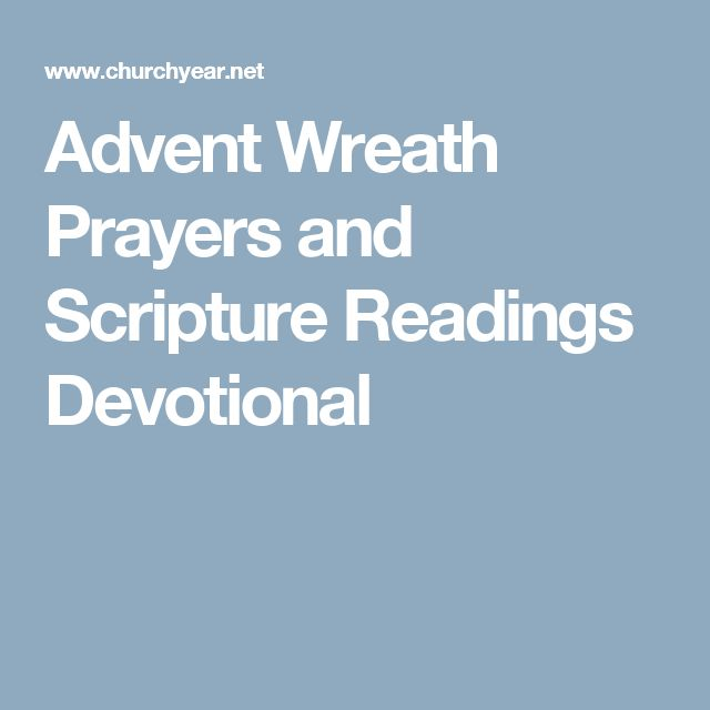 Advent Wreath Prayers and Scripture Readings Devotional