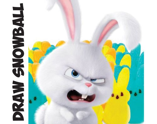 Learn How to Draw Snowball the Bunny Rabbit from The Secret Life of Pets : Easy Step by Step Drawing Tutorial for Kids