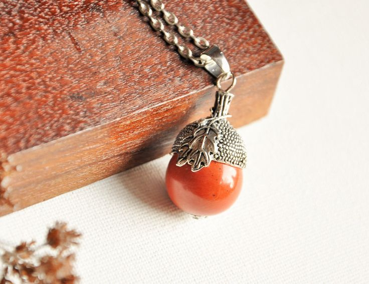 Acorn pendant, Silver acorn necklace, Good luck charm, Nature inspired, Friend Gift, Woodland Jewellery, Brown necklace, Earth jewelry, UK by SpotTheTrend on Etsy https://www.etsy.com/uk/listing/499760428/acorn-pendant-silver-acorn-necklace-good