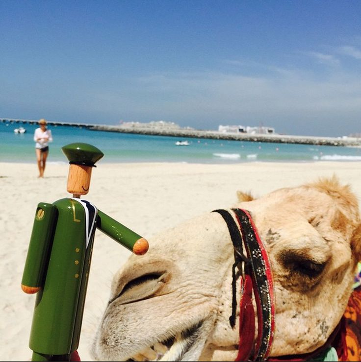 We just had to #regram this #MyGreenMan picture from @MeggieKnowles who took her little friend to Dubai... And it looks like he made a friend of his own. #VogueFestival http://www.harrods.com/style-insider/news/ss15/harrods-my-green-man-competition