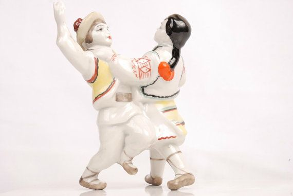 RUSSIAN Ukrainian Porcelain Figurine Korosten by BerryPlace