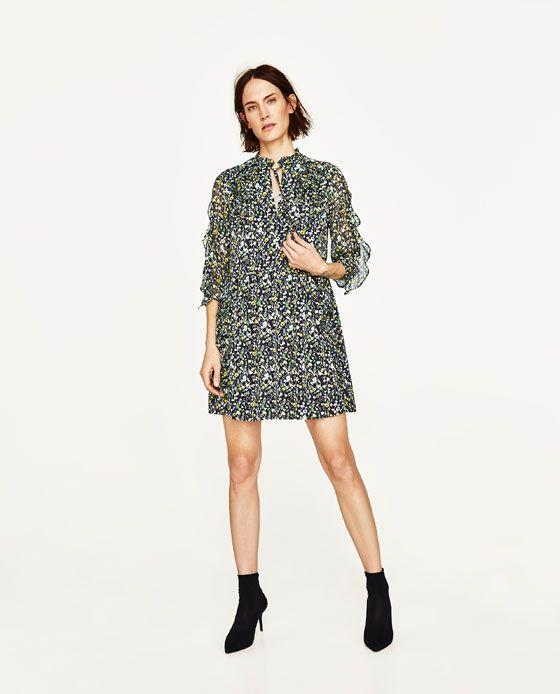 Zara Floral Short Dress