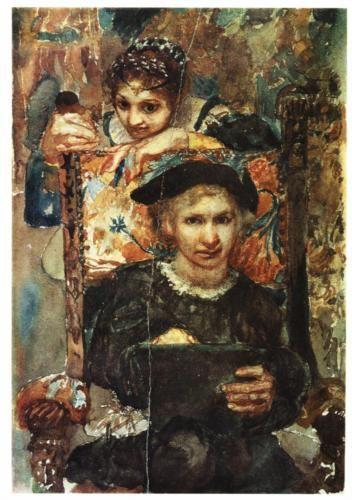 Hamlet and Ophelia - Mikhail Vrubel
