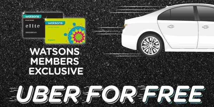 Watsons Singapore Stand a Chance to Win Unlimited Uber Rides Contest ends 24 May 2017