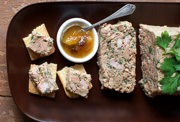 Arlington Chicken Liver Pâté. I could live on ploughman's plates, heaped with pates, cheeses, meats, and pickles. Recipe by Colman Andrews; image by Christopher Hirsheimer