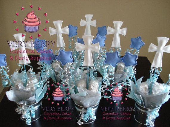 Best boy baptism centerpieces ideas on pinterest