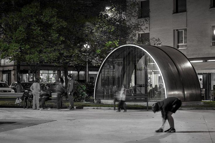 MLMR Arquitectos - Marquesina en Plaza San Juan Bosco - Pamplona, Spain