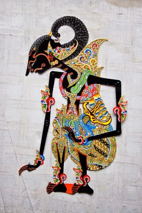 Wayang kulit (Indonesian shadow puppet made of leather)