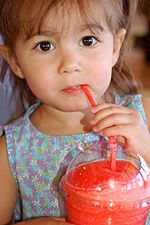 Make your own Slurpees/Slushees recipe. 1 package of unsweetened Kool-Aid drink mix, any flavor  2 cups of water  1/2 - 3/4 cup sugar  4 cups ice  In a blender, combine Kool-Aid, water and sugar. Blend. Add all the ice and blend. That's it! For Coca Cola, simply add one can of Coke and enough ice to cover and blend.