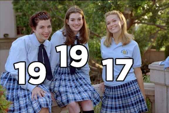 The Princess Diaries. | The Real Ages Of '00s Movie Teenagers