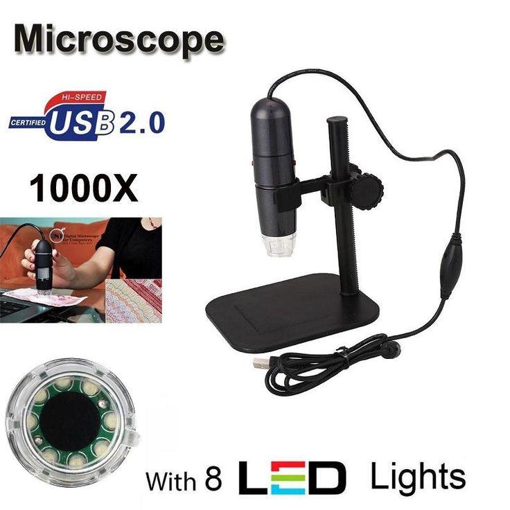 check discount 8led 50x 1000x usb digital microscope handheld endoscope magnifier camera stand #handheld #microscope