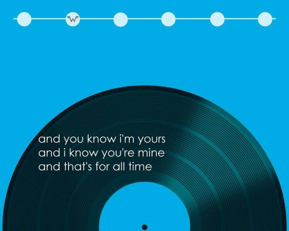 Buddy Holly  Weezer.  Song Lyric Art Print wall by JukeboxGraffiti, $18.50