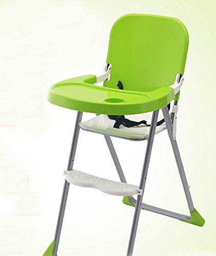 Las sillas altas para niños mesas plegables de la silla del bebé que come los alimentos para niños y las sillas se efectúe un cambio descendente ( Color : Verde )  #cochecitosbebe