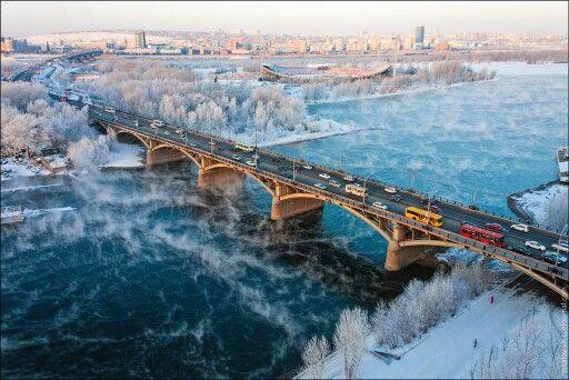 Invierno en Krasnoyarsk, Siberia