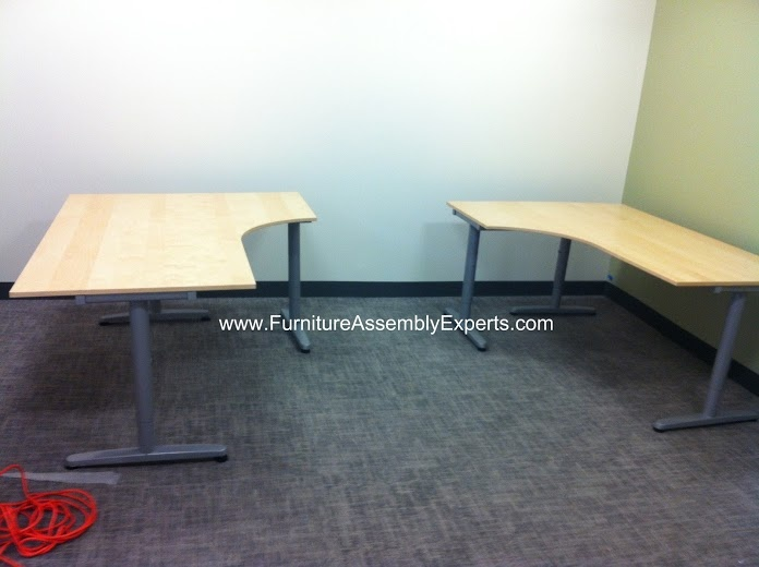 Ikea Galant Corner Desks Assembled In New York City By Furniture Assembly  Experts