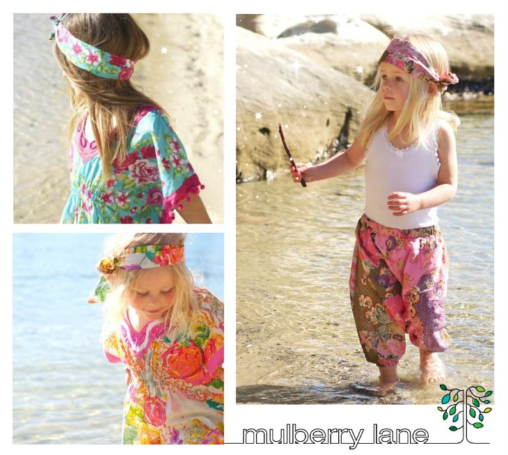 Beautiful kaftans and harem pants from Mulberry Lane Griffith
