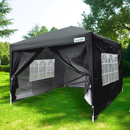 Free Shipping. Buy Quictent Silvox Waterproof 8x8' EZ Pop Up Canopy Gazebo Party Tent Black photo booth Portable Style at Walmart.com