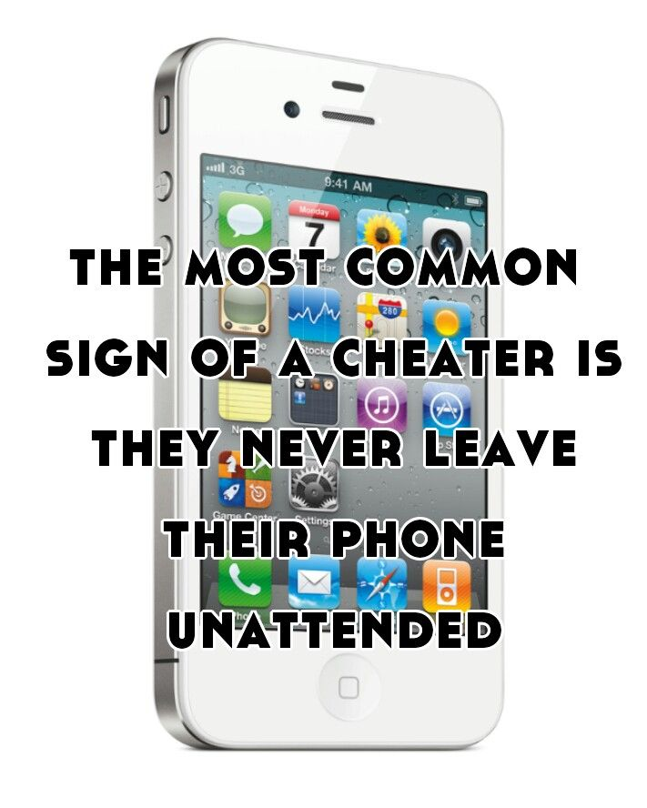 Sign of a cheater