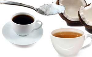 L'huile vierge de coco. Transformez votre boisson favorite en une potion énergétique qui stimulera votre activité cérébrale et brûlera vos réserves de gras inutiles