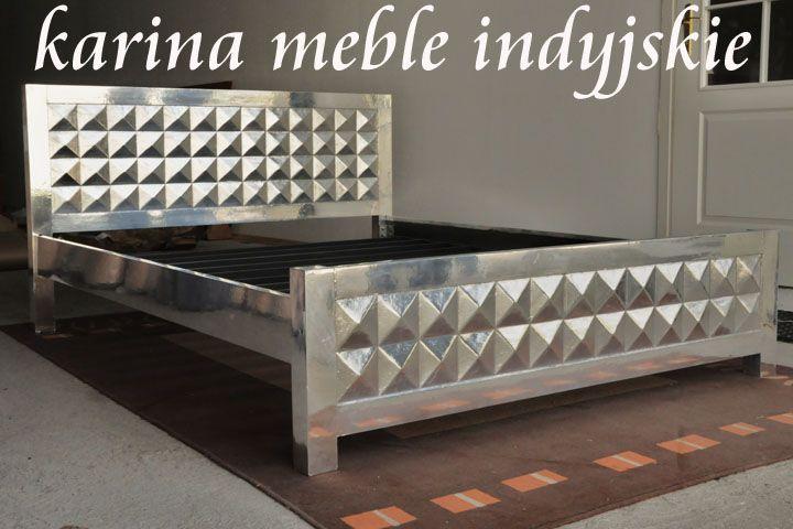 """#mebleindyjskie - łóżko """"Cristal"""" drewno plus metal http://karinameble.pl/pl/p/kolonialne-lozko-160-cm-CRISTAL/861"""
