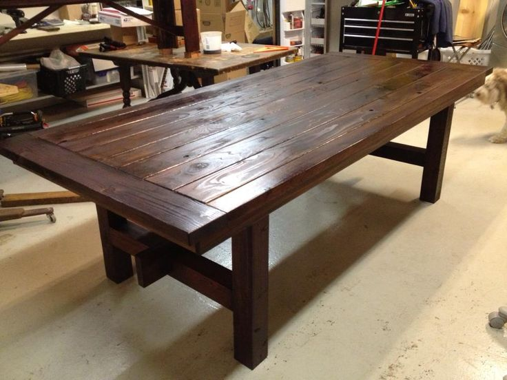 New Lumber Dining Table, Stained