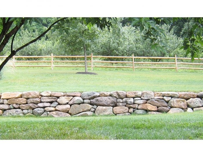 Awesome dry stack stone wall rock retaining