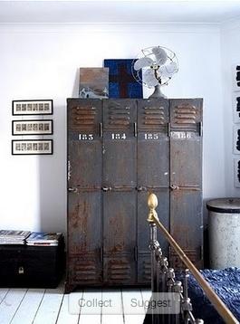 Oude locker kasten