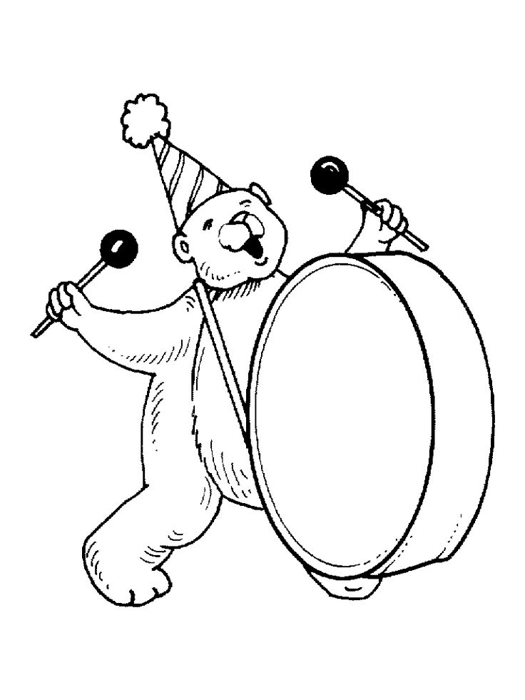 Percussion instruments coloring pages and links to learn and listen to the instruments.