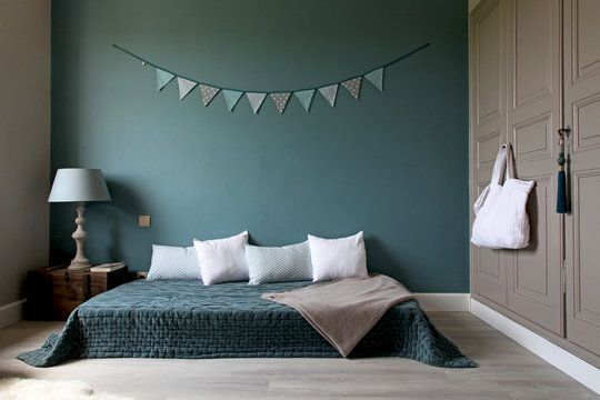 1000 id es sur le th me couleurs vertes sur pinterest for Chambre parentale bleue