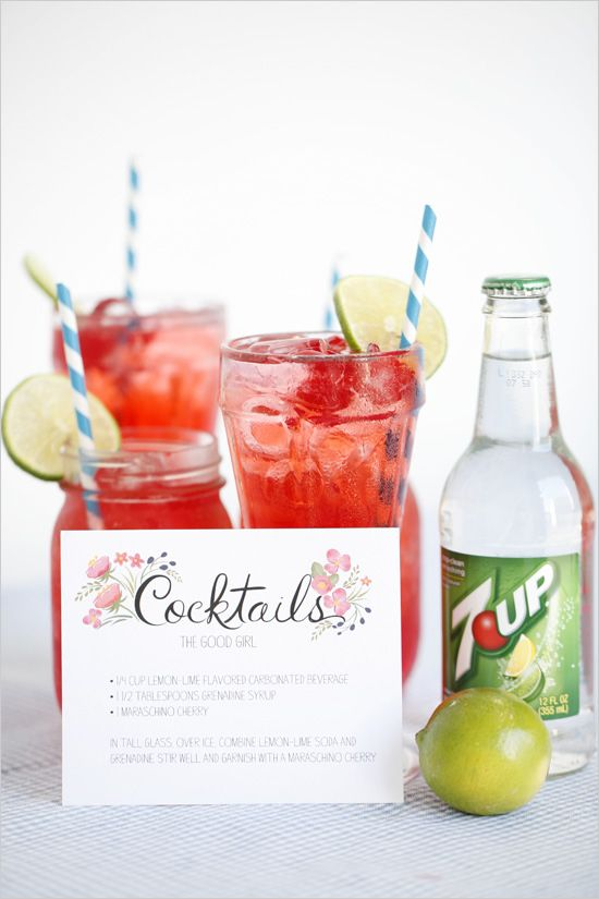 virgin wedding cocktails ideas