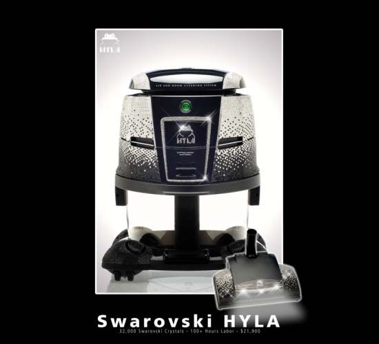 Hyla's Swarovski-studded vacuum cleaner sells for $22,900.