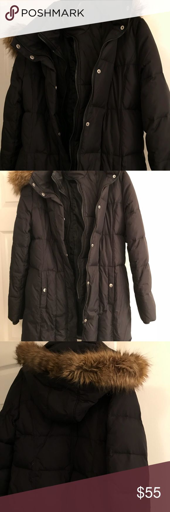 Michael Kors Long puffer coat with hood sz large I have only worn this a couple times. It's a Michael Kors Long black down puffer coat. Size large. Detachable hood. It has two zippers and snaps. I wore it to my daughters ice skating practice and I was so warm! She quit lol so I have no need for it. Excellent condition. Michael Kors Jackets & Coats Puffers