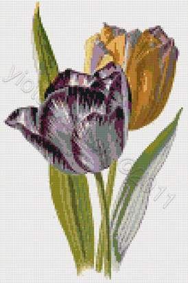 Tulips cross stitch kit or pattern