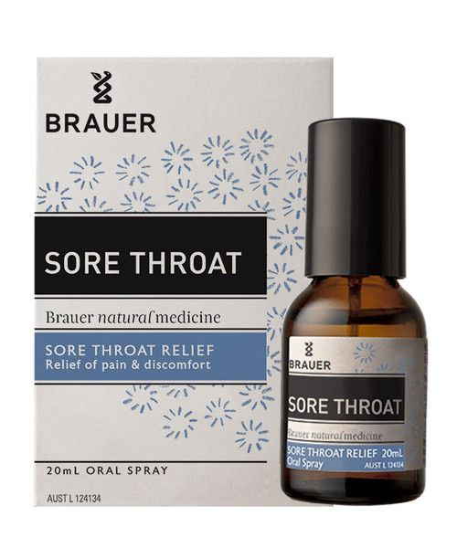 Sore Throat Oral Spray 20mL- Sore Throat Oral Spray includes ingredients traditionally used in homeopathic medicine to help relieve symptoms of a sore throat such as pain, burning, and inflammation.