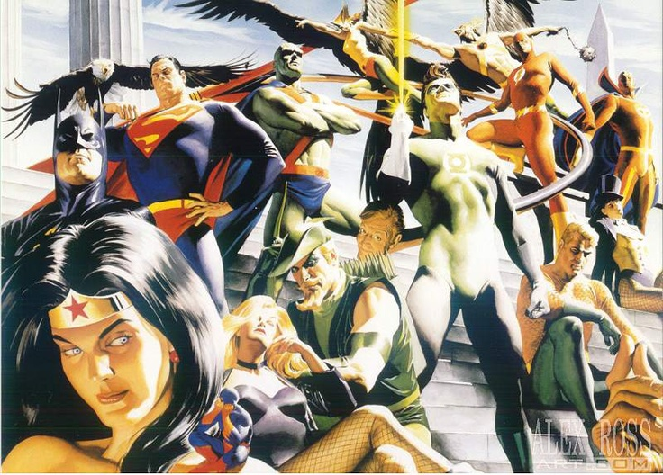 DC's JLA.  Painted by Alex Ross - one my favorite comic book artist. The image below used to be my PC's wallpaper for a while. :)