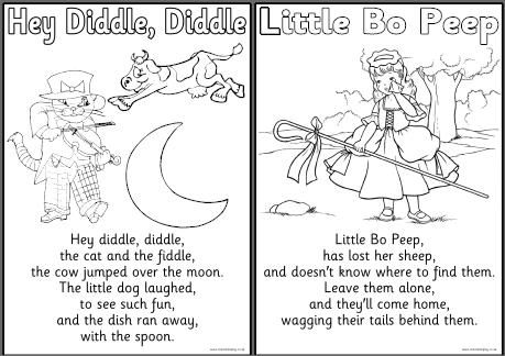 Nursery Rhyme Free Printable Colouring Sheets With A Farm