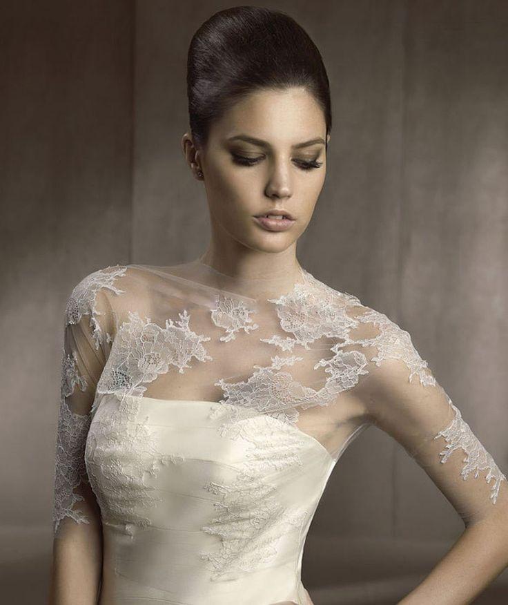 76 best Lace wedding jackets images on Pinterest | Short wedding ...