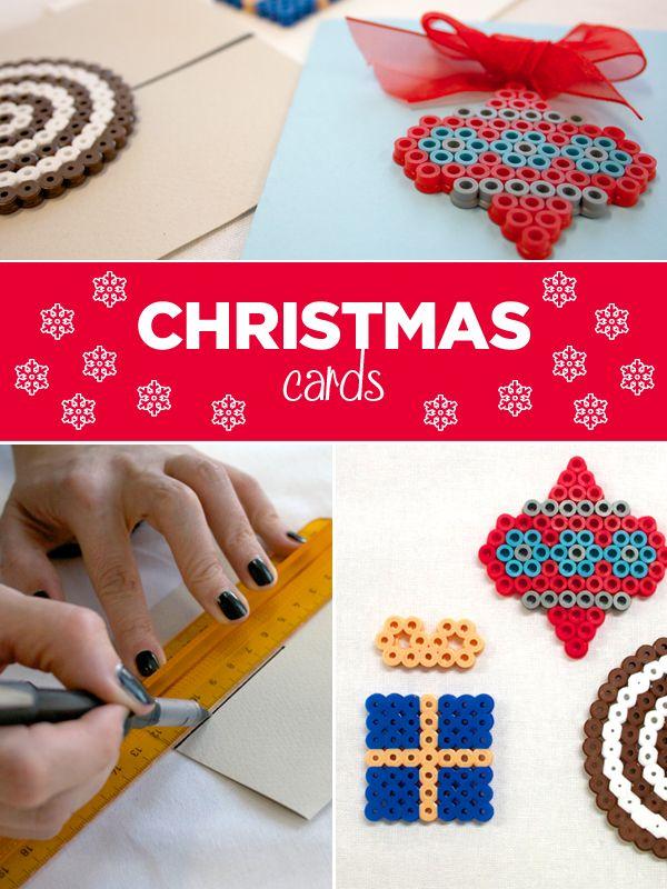Per rendere speciale un biglietto d'auguri, basta davvero poco: possiamo impreziosirlo con una decorazione fatta da noi o dai bimbi di casa, magari con le nostre perline da stirare. In rete si trovano molte idee coloratissime e per tutte le occasioni, ma noi vogliamo proporvi qualcosa in tema natalizio. #christmas #beads #cards