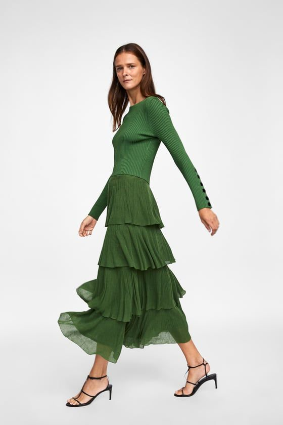 854dbcfe Image 6 of SKIRT WITH FRILLS from Zara | GREEN | Ruffle skirt ...