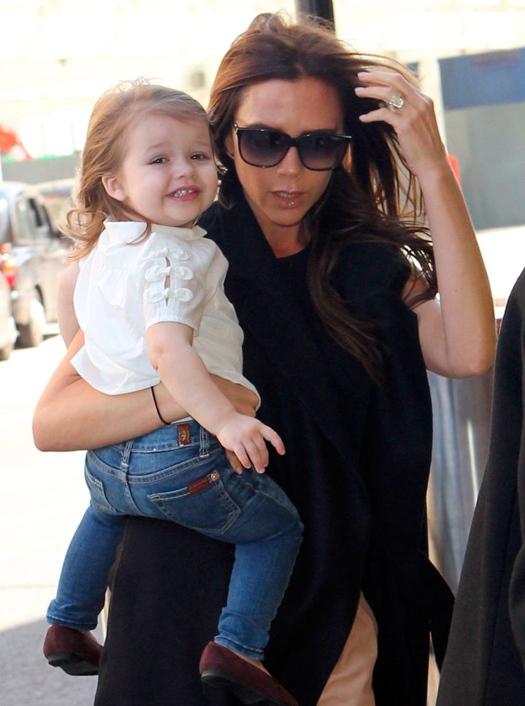 As the first daughter of football great David Beckham and Spice Girl-turned-fashion-designer Victoria Beckham, Harper Seven Beckham was always destined for the spotlight. Description from marieclaire.co.uk. I searched for this on bing.com/images