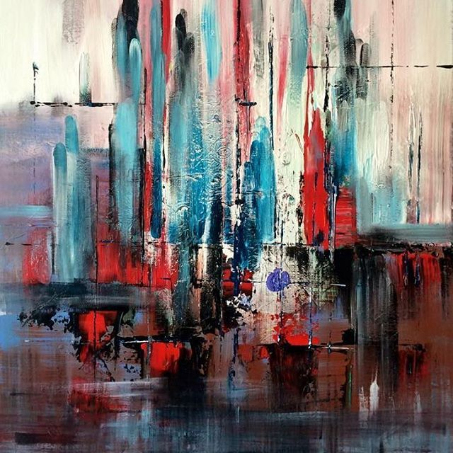 60 x 80 cm acrlyic abstract on canvas by Mo Tuncay