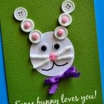 Easter Kids Craft: Some Bunny Loves You Card