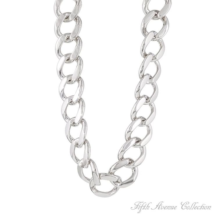 "20"" Rhodium Neckpiece-Fifth Avenue Collection Australia,beautiful jewellery,beautiful people,beautiful life"